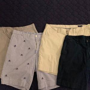(4) Pairs Polo Ralph Lauren Shorts EUC 36W Flat Fr